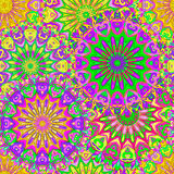 Colorful seamless pattern mandala Royalty Free Stock Photo