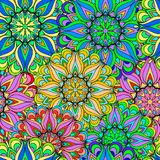 Colorful seamless pattern mandala. Can be used for wallpaper, pattern fills, web page background, surface textures. Arabic, India, Islam, Asia. Happy design Stock Photos