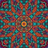 Colorful seamless pattern mandala design. Abstract folk ethnic colorful seamless pattern ornament Stock Photos