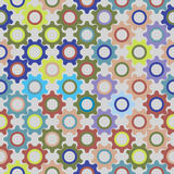 Colorful seamless pattern from multicolored gears Stock Photography