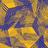 Colorful seamless pattern with parallel lines and geometric elem Stock Images