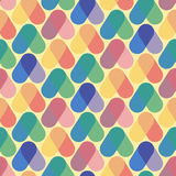 Colorful seamless pattern retro style Stock Photography