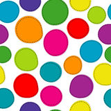 Colorful seamless pattern with round shapes Stock Photo