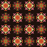 Colorful seamless pattern set with color floral motif Stock Photos