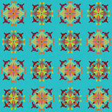 Colorful seamless pattern set with color floral motif stock photography