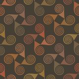 Colorful seamless pattern with spiral elements Royalty Free Stock Image