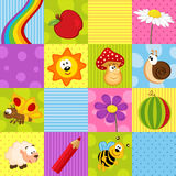 Colorful seamless pattern with squares Stock Photo
