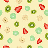Colorful seamless pattern. Stock vector colorful seamless pattern. Strawberry kiwi apple cucumber Stock Photos