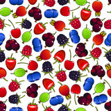 Colorful seamless pattern with sweet berries Stock Image