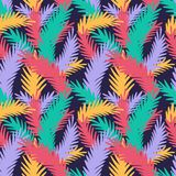 Colorful seamless pattern with tropical leaves. Vector background for design. And decoration of fabric, home textile, wallpaper, clothing, footwear and Royalty Free Stock Images