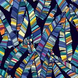 Colorful seamless pattern of Tropical palms leaves. royalty free illustration