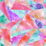 Seamless pattern of watercolor abstract pieses vector illustration