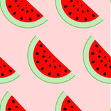Colorful seamless pattern of watermelon slices. Royalty Free Stock Images