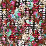 Colorful seamless pattern with wild  Leopards Royalty Free Stock Photography