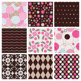 Colorful seamless patterns Stock Photo