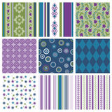Colorful seamless patterns Royalty Free Stock Image