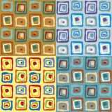 Colorful seamless patterns Royalty Free Stock Photography