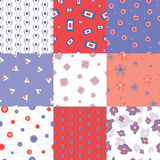Colorful seamless patterns Royalty Free Stock Photos