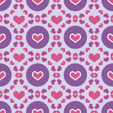 Colorful seamless patterns Valentine day Royalty Free Stock Photos