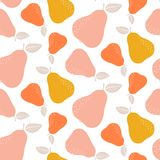 Colorful seamless pear pattern. Repetitive simple vector background. Colorful seamless pear pattern. Repetitive simple vector background with fruits vector illustration