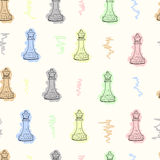 Colorful seamless queen Royalty Free Stock Images