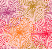 Colorful seamless radial pattern Royalty Free Stock Image