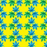 Colorful seamless repeating pattern from ricinus communis. Colorful seamless repeating pattern from castor oil plant, flower, wallpaper, floral, background vector illustration
