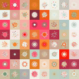 Colorful seamless snowflake pattern. EPS 8 Royalty Free Stock Photos
