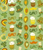 Colorful seamless St.Patrick's day pattern Stock Photo