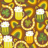 Colorful seamless St.Patrick's day pattern Stock Images