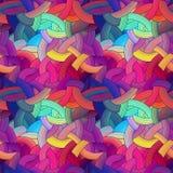 Colorful seamless stripes background, rainbow Royalty Free Stock Photos