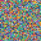 Colorful seamless texture of knitted fabrics Stock Photo