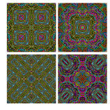 Colorful seamless tiling ornamental texture collection Royalty Free Stock Photo