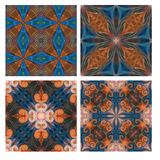 Colorful seamless tiling ornamental texture collection Stock Images