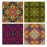 Colorful seamless tiling ornamental texture collection Stock Photos
