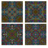 Colorful seamless tiling ornamental textures Stock Photo