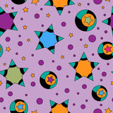 Colorful seamless tiling star texture Royalty Free Stock Photography