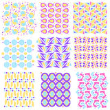 Colorful seamless tiling texture collection Royalty Free Stock Images