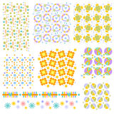 Colorful seamless tiling texture collection Stock Image