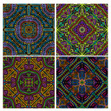 Colorful seamless tiling texture collection Stock Images
