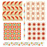 Colorful seamless tiling texture and trim collecti Stock Photo