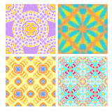 Colorful seamless tiling textures collection Stock Image
