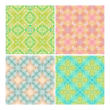 Colorful seamless tiling textures collection Royalty Free Stock Image