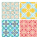 Colorful seamless tiling textures Royalty Free Stock Images