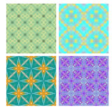 Colorful seamless tiling textures collection Royalty Free Stock Images