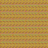 Colorful seamless tribal geometric pattern in brown, yellow, red and green vector illustration