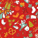 Colorful seamless vector christmass pattern Royalty Free Stock Photography
