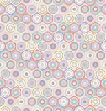 Hexagons, circles and flowers seamless vector pattern vector illustration