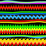 Colorful seamless vector tribal pattern Royalty Free Stock Photo