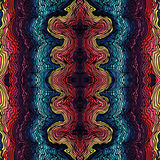 Colorful seamless waves hand-drawn pattern Royalty Free Stock Photography
